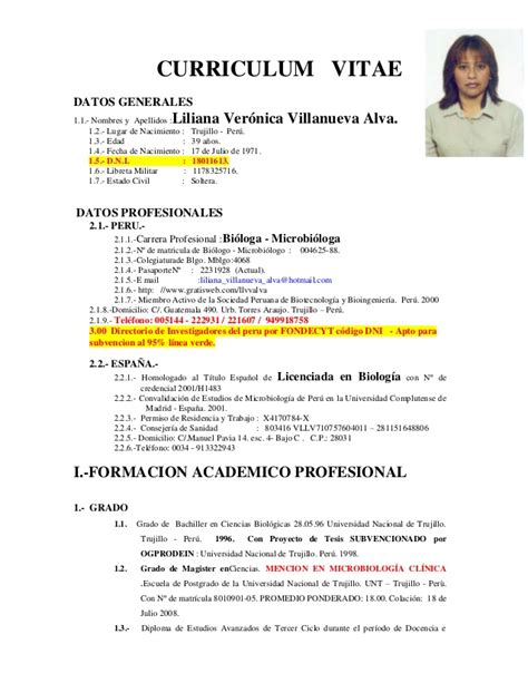 Modelo Curriculum Peru 2015 Modelo De Curriculum Vitae 2015 New Style For 2016 2017