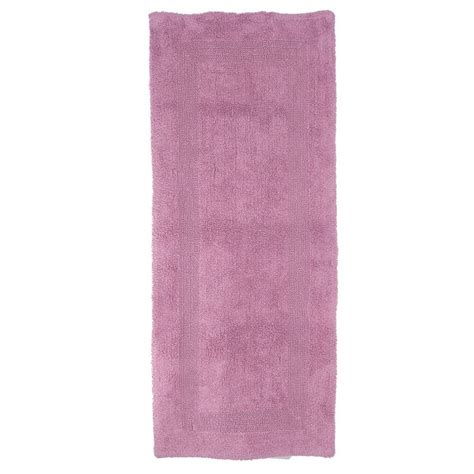 bath runner rugs lavish home 2 ft x 5 ft cotton reversible bath rug runner 67 0019 r the home