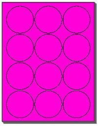 Avery Labels 2 Inch Template by 1 200 Labels 2 1 2 Inch Circle Or Fluorescent Pink