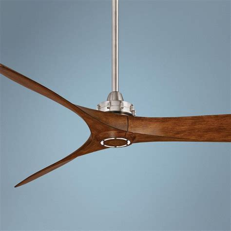 koa wood ceiling fan 60 quot minka aire aviation brushed nickel and koa ceiling fan