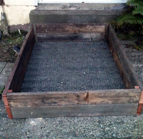 How To Fit Sleepers In Garden by How To Install Raised Garden Beds Peak Prosperity