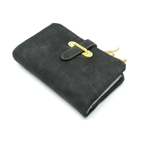 Dompet Wanita Lipat Bahan Kulit dompet kulit wanita bahan nubuck black jakartanotebook