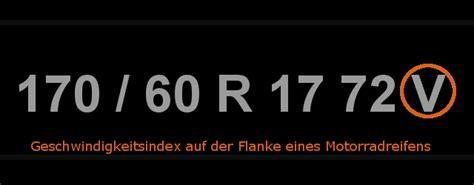 Motorradreifen Speedindex by Geschwindigkeitsindex Erkl 228 Rung Zum Speedindex Auf