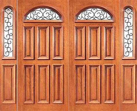 pre hung mahogany camber lite exterior double door
