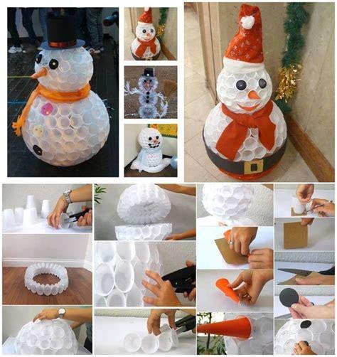 pupazzo di neve con bicchieri di carta oltre 25 fantastiche idee su decorazioni pupazzo di neve