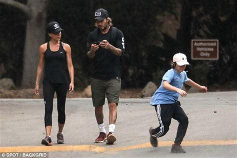 cruz beckham university college school harper beckham sprints ahead on family hike in california