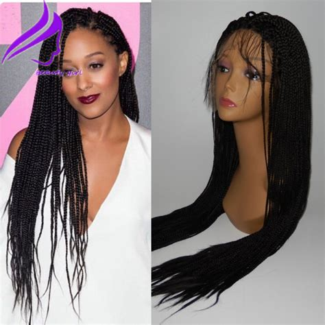lace front african mirco braided wigs free shipping braided lace front wigs box braided