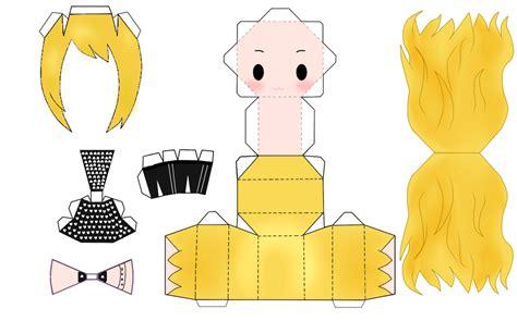 Papercraft Templates Anime - papercraft template yvon by annabloem on deviantart