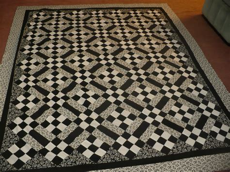 Black And White Patchwork Quilt - sews 4 you tailoring and alterations in burlington