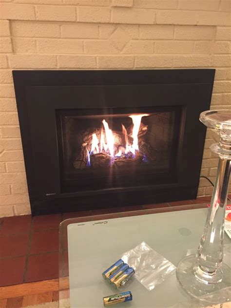 gas fireplace insert installation complete chimney