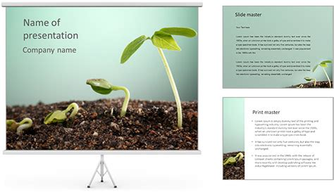 powerpoint themes soil plant in soil powerpoint template backgrounds id