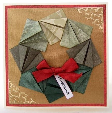 tutorial origami card easy origami wreath tutorial wreaths origami and cards