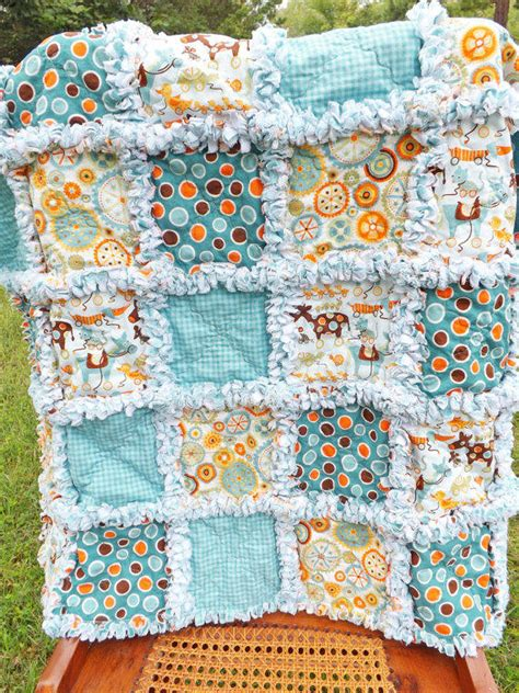 rag quilt crib size mod tod fabrics from