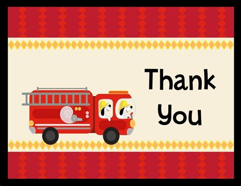 truck thank you card template engine baby shower thank you cards baby shower