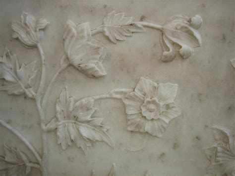 flower design marble marble floral carving at the taj mahal