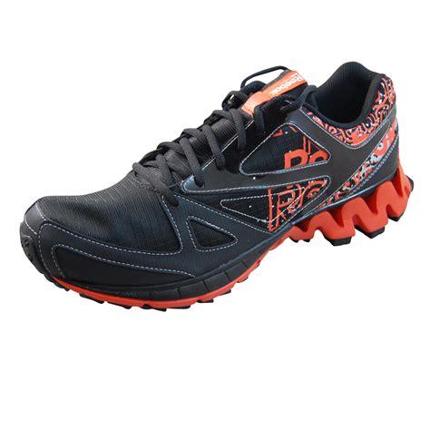 reebok mens zigkick trail 1 0 black running shoes v59986