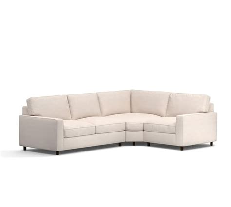 sectional with wedge pb comfort square arm upholstered 3 piece sectional with