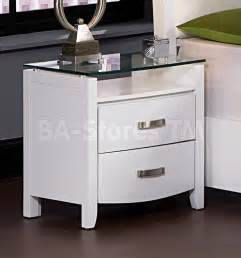 Homelegance Bedroom Set lyric night stand with tempered glass top white
