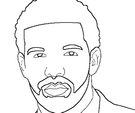 drake rapper coloring pages coloring home