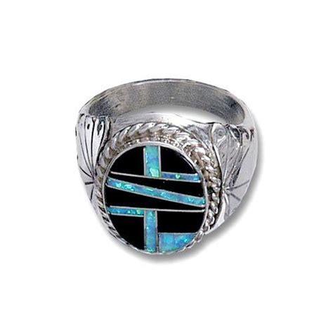 black opal mens ring mens opal jet inlay ring rings jewlery
