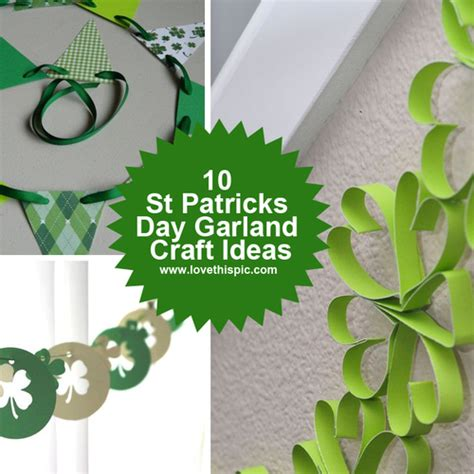 wooden st s day crafts 10 st patricks day garland craft ideas