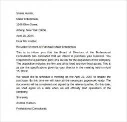 Letter Of Intent To Buy A Business Template by Letter Of Intent To Purchase Business 8 Free Sles