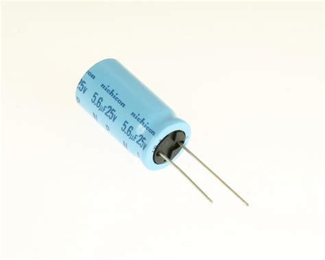 6uf capacitor uha1e5r6kha nichicon capacitor 5 6uf 25v aluminum electrolytic radial 2020070401