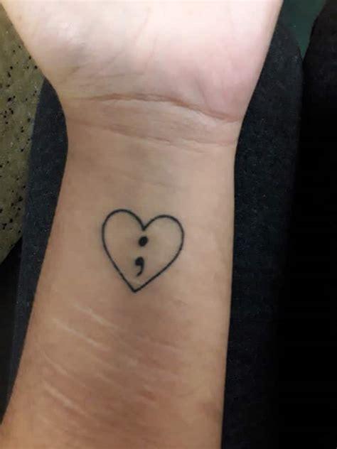 85 inspiring semicolon tattoo ideas that you will love