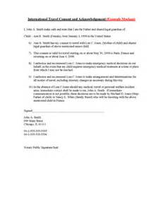 Permission To Take Child Out Of Country by Letter Of Permission To Travel Free Printable Documents
