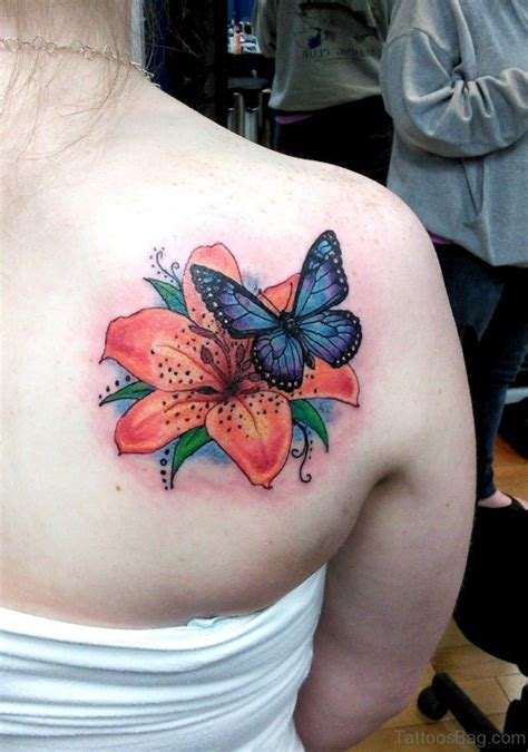 butterfly tattoo designs on shoulder 55 beautiful butterfly and flower shoulder tattoos