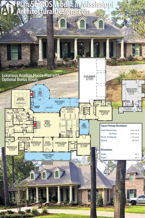 architectural designs acadian house plan 51742hz gives you 124 best acadian style house plans images on pinterest