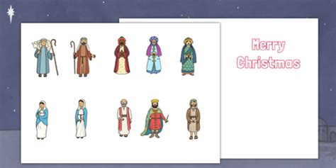 nativity card template word make your own nativity cards cut outs