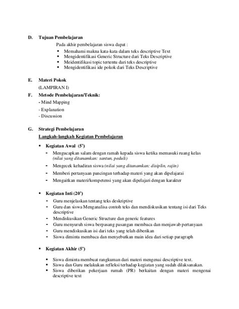 generic structure dari teks biography lesson plan for x ii descriptive text