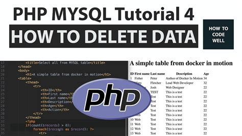tutorial javascript php mysql php mysql tutorial 4 how to delete a mysql row in php
