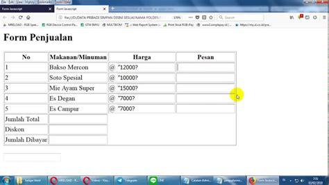 membuat form login sederhana php script membuat form html tutorial membuat form nota