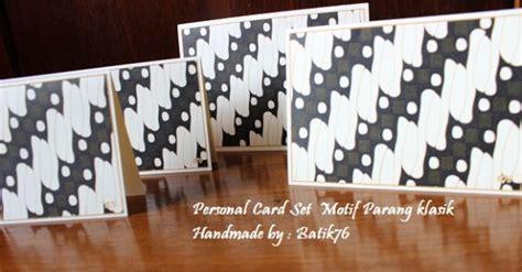 Set Dengan Print Motif jual kartu ucapan batik personal card set motif parang