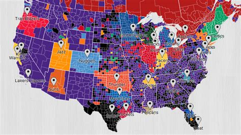 nba map image gallery nba map 2015