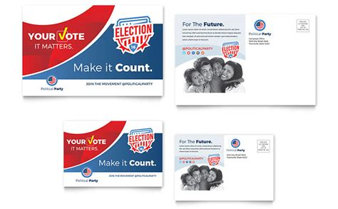 political postcard templates election postcard template design