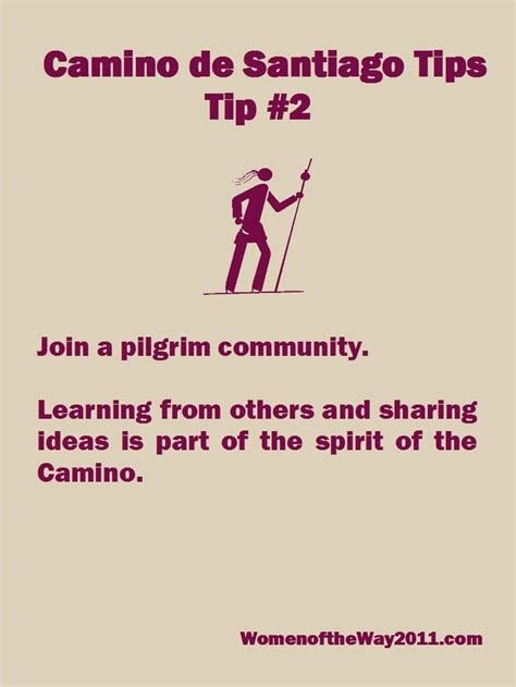 a pilgrim s guide to the camino de camino tip no 2 join a pilgrim community v blanchard