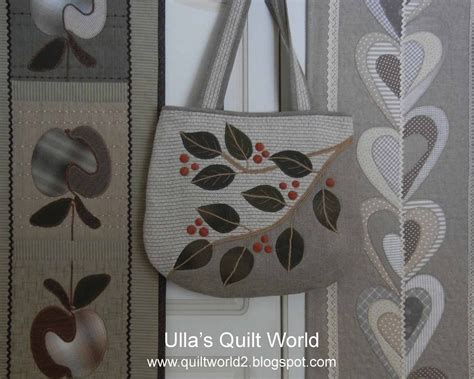 Quilt Bag Pattern by Ulla S Quilt World Quilt Bag Leafs Pattern