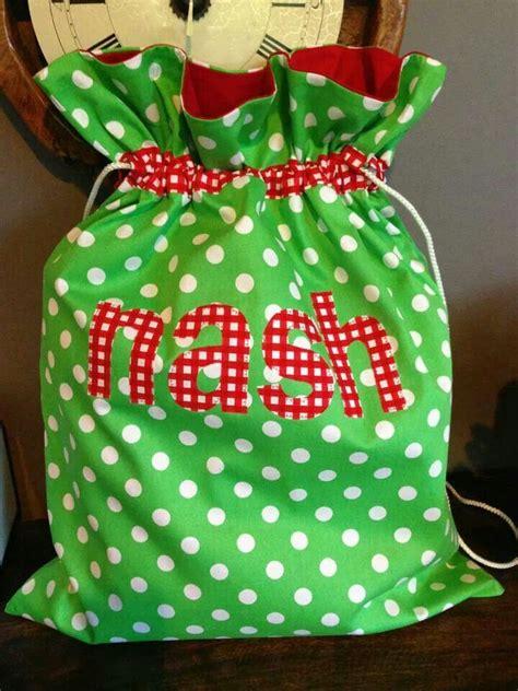 santa sack christmas winter decorating pinterest