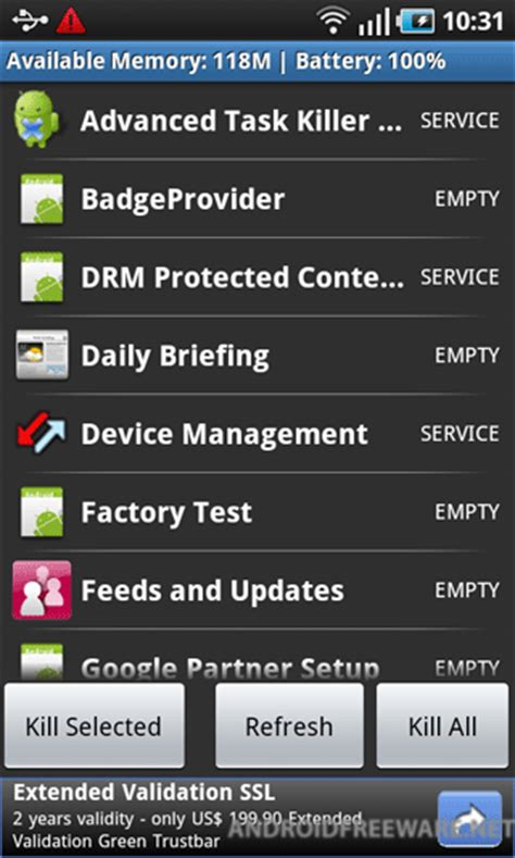 task manager for android phone es task manager free app android freeware