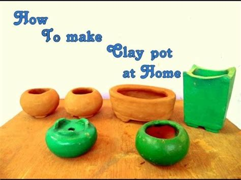 how to make clay bonsai pots at home