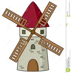 House Building Plans With Prices cartoon stone windmill icon stock vector image 86596539