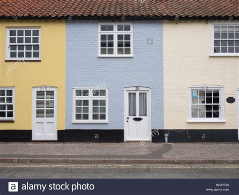 terraced houses in southwold suffolk stock photos