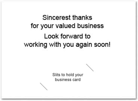 Thank You Note Quotes Business Business Thank You Card With Slits Business Greeting Cards