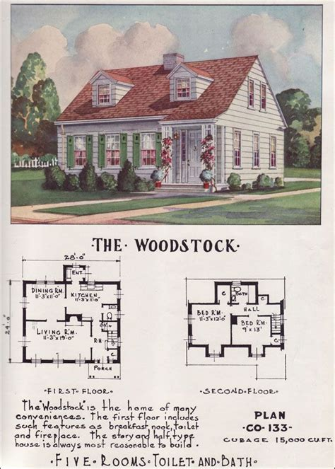Cape Cod Cottage House Plans by Small Mid Century Cape Cod Cottage Nationwide House Plan