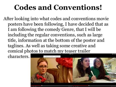 film comedy conventions movie poster comedy codes conventions