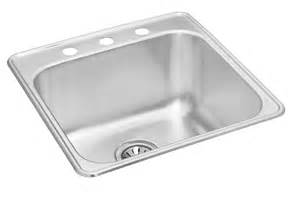 Wessan Kitchen Sinks Wessan Single Bowl Drop In 20 Inch X 20 5 Inch X 10 125 The Home Depot Canada