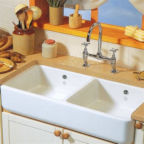 ceramic sinks kitchen shaws classic butler double ceramic sink just bathroomware